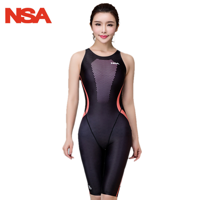 NSA 2018 Racing One Piece Swimwear Women Swimsuit For Girls Competitive Swimming Suit For Women Bathing Suits Womens Swimsuits competition swimsuits girls professional swim patchwork swimsuit female swimwear open back high cut women swimming racing suit