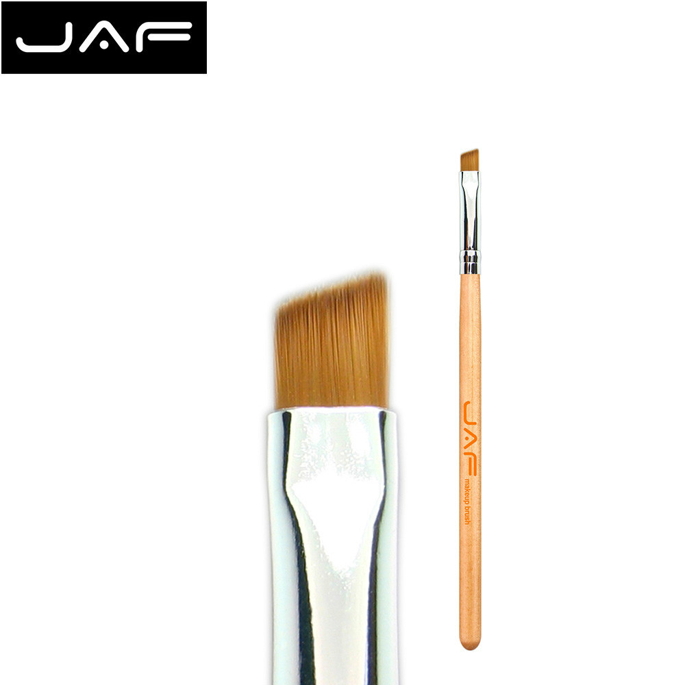 JAF Angled Eyebrow Brush Synthetic Taklon Hair Gel Eyeliner Brush Brand Make Up Eye Liner Brush Bevel Brush for Eye Brow #04SBYA hengfang 52135 princess style water resistant eyeliner gel w brush black