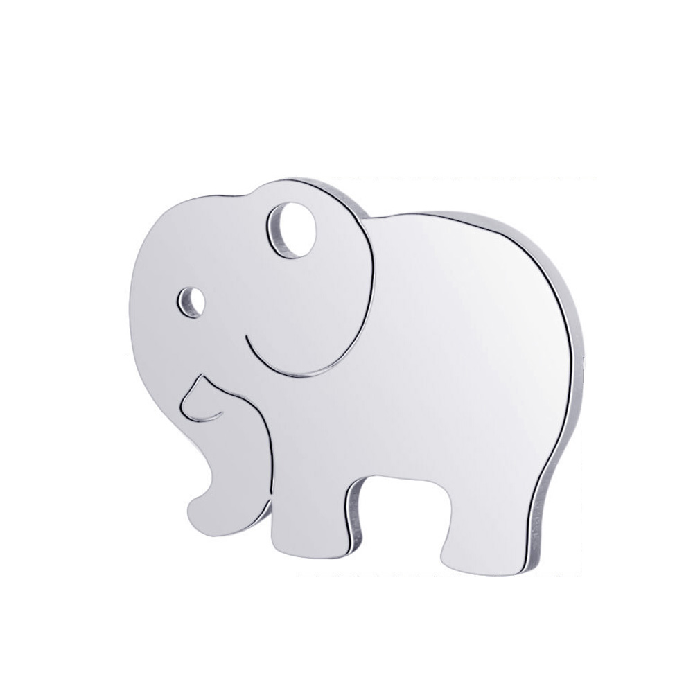 10pcs Real Stainless Steel Charms Elephant Pendant for Fashion Handmade DIY Jewelry Making Finding Accessories