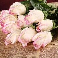 10 sztuk/zestaw Prawdziwy Dotyk Pąki Róży Kwiaty Sztuczne Kwiaty Róże Kwiaty bukiety ślubne Ślubne Ślubne Strona Główna Dekoracyjne Kwiaty