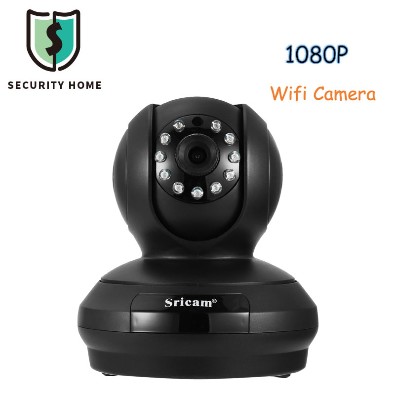Sricam SP019 1080P FHD Surveillance WiFi Camera H.264 Night Vision Security IP Camera P2P PTZ Support iOS Android For Home