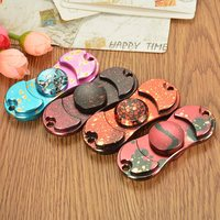 Retro Camouflage Dazzle Fidget Hand Spinner ADHD Autism Fingertips Fingers Gyro Reduce Stress Gift Toys For