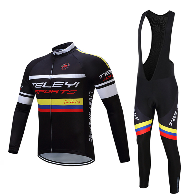 2017 Long Sleeve Men's Cycling Jersey Male MTB Mountain Bike Clothing Sets Bicycle Clothes Kits Pro Team Maillot/Mallot Uniform male team cycling jerseys autumn cycling clothes long sleeve bike jersey winter fleece bicycle riding suits free shipping