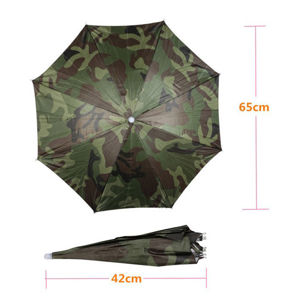 Outdoor Fishing Cap Headwear Sun Umbrella Folding Sunscreen Hiking Golf Beach Camouflage Hat Hg0273 In Umbrellas From Home Garden On
