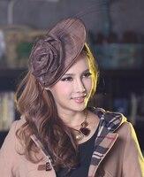 Free Shipping Elegant Women Hair Fascinator Hats Flower Hair Accessories Hair Bows Hairband Princess Headwear Fashion