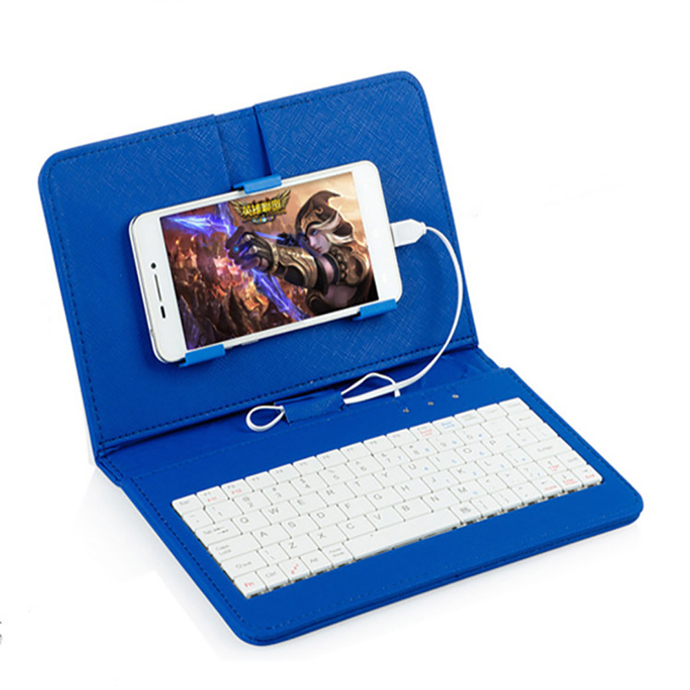 Wired-Keyboard-Case Protective HUAWEI Micro-Usb Phone Samsung for with Holde