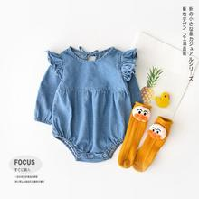 SOIFORM 2019 baby girls boys denim romper spring jumpsuit