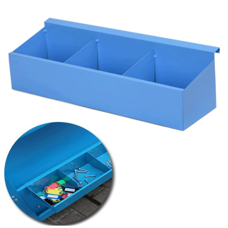 Iron Metal Three-layer Tool Car Cart Accessories Tool Box Hardware Screw Wrench Storage Box Red Blue