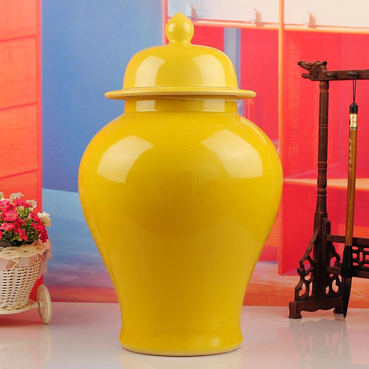 Glazed Temple Jars Antique Chinese Ceramic Vase Handmade