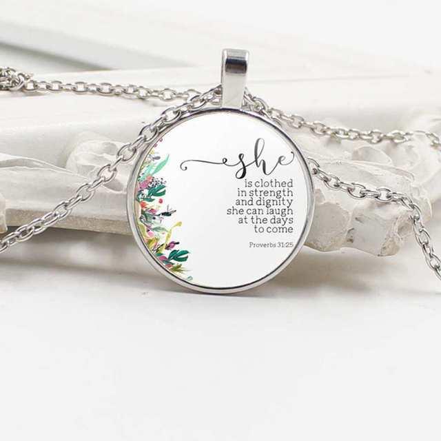 2019 Jesus é que paga todos os versículos Da Bíblia da moda jóias citação colar de vidro cabochão pingente escrituras Cristãs presentes fé