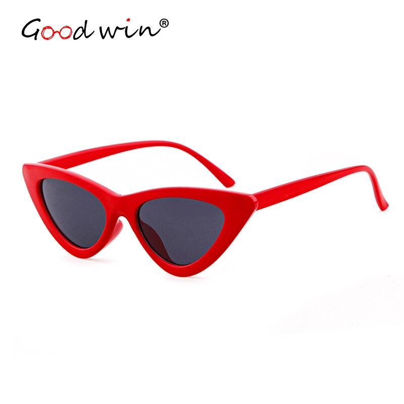 2a01211a34 GOOD WIN 2018 Supreme Sexy Cat Eye Sunglasses Red Mirror Cute Triangle 90s  Sun Glasses Women Hot Cheap Lentes de mujer on Aliexpress.com