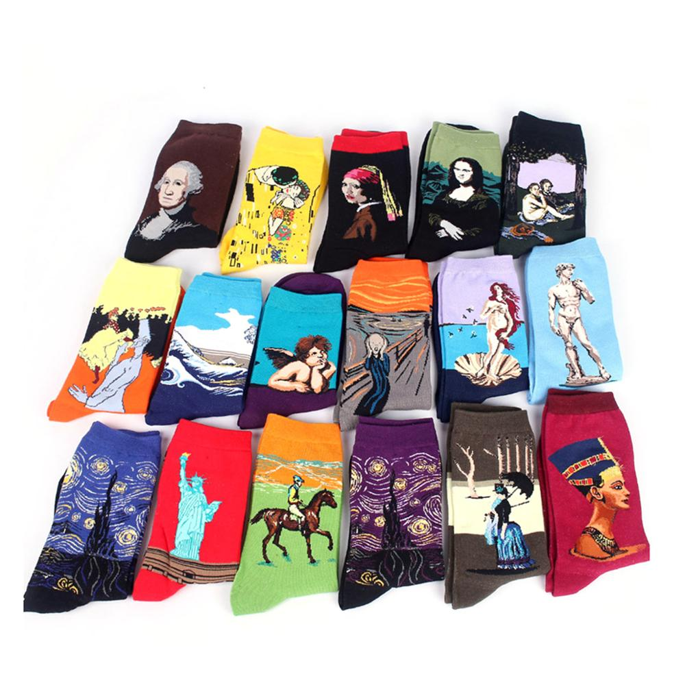 Personality Men Cartoon Dress   Socks   Man Short   Socks   Summer Winter Men Women Tube   Socks   Food Wholesale Outlet 2018 New Arrival