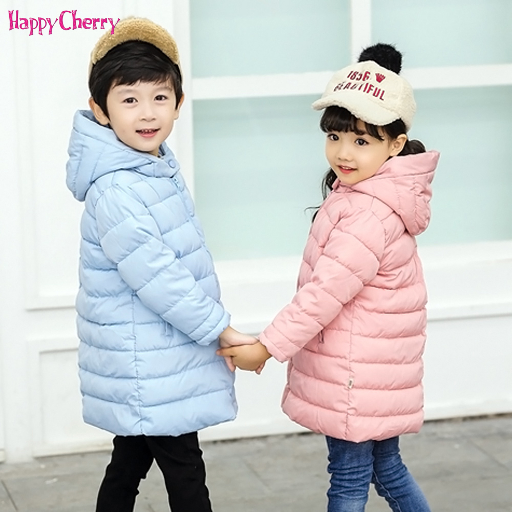 New 2018 Fashion Children Winter Jacket Girl Boy Winter Coat Kids Warm Thick Collar long down Coat Conton clothing For Teenager boy winter long warm down jacket boy simple fashion warm down jacket boy big fur collar thick coat boy solid color coat