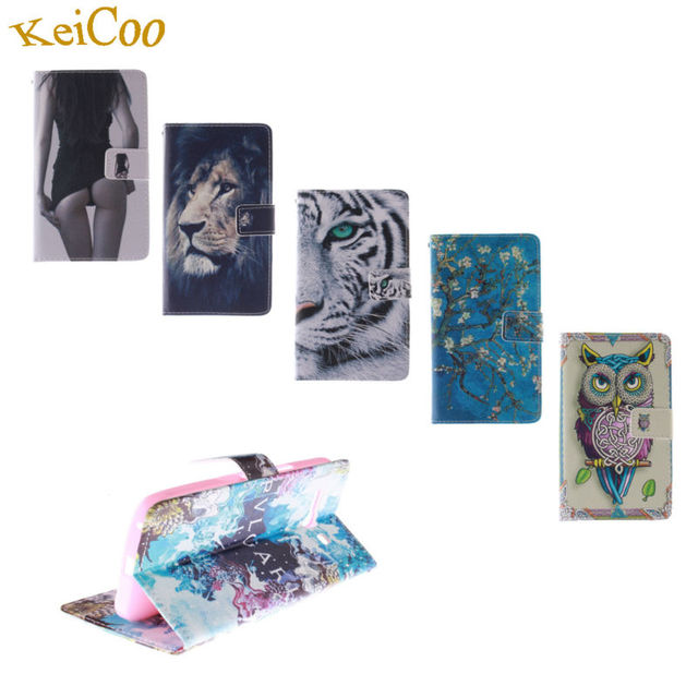 Brand PU Leather Art Animal Print Wallet Cases For ASUS Zenfone 5 T00j Zenfone5 A500CG Book Flip Covers TPU Silicon Full Housing