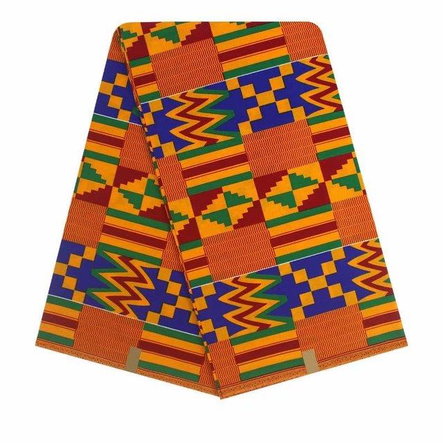 African Real Dutch Wax Fabric 6 Yards