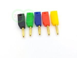 Image 2 - 200 pcs 2 millimetri Placcato Oro Spina A Banana 5 di Colore