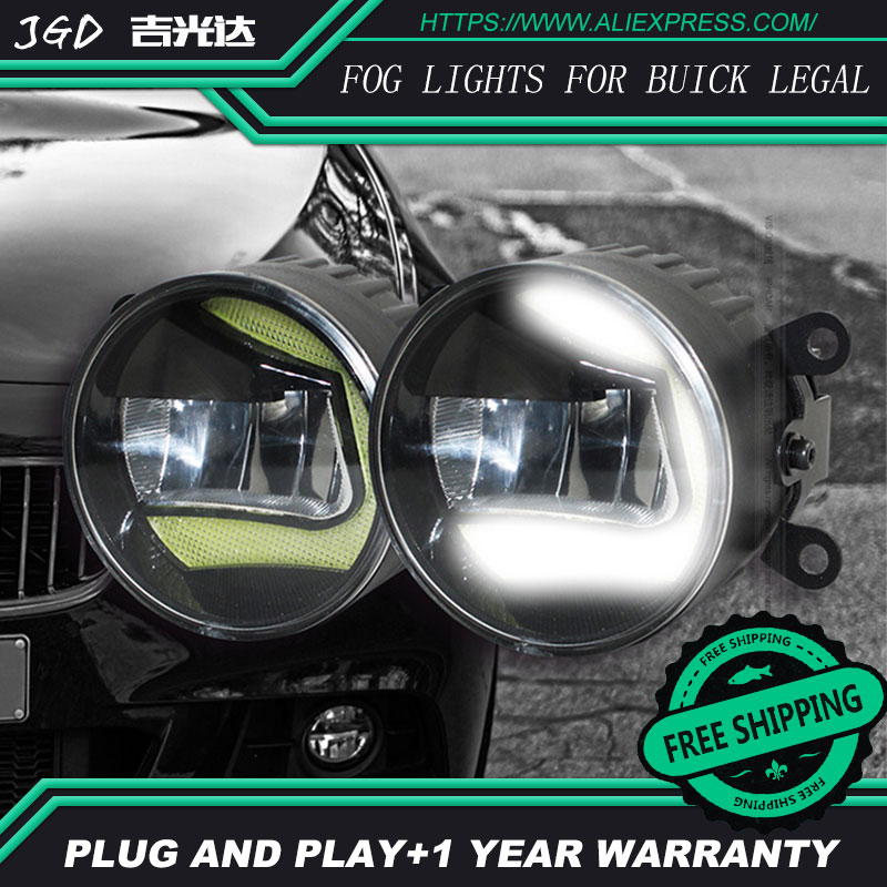 For Buick legal LR2 Car styling front bumper LED fog Lights high brightness fog lamps 1set led front fog lights for jaguar s type ccx saloon 1999 2007 2008 car styling bumper high brightness drl driving fog lamps 1set