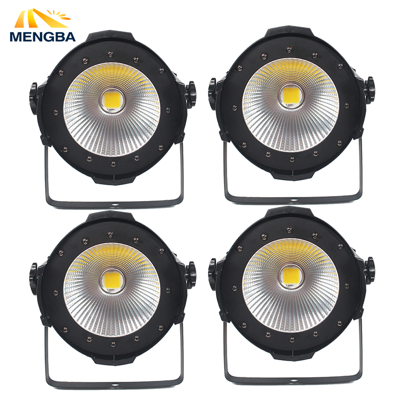 4pcs/lot High Power COB 100W LED Par Light Aluminium DMX Led Beam Wash Strobe Effect Warm and White Double Color Stage Lighting splicing 2 light led blinders with 100w led cob x2 amber cold white color for audience blinding color warm