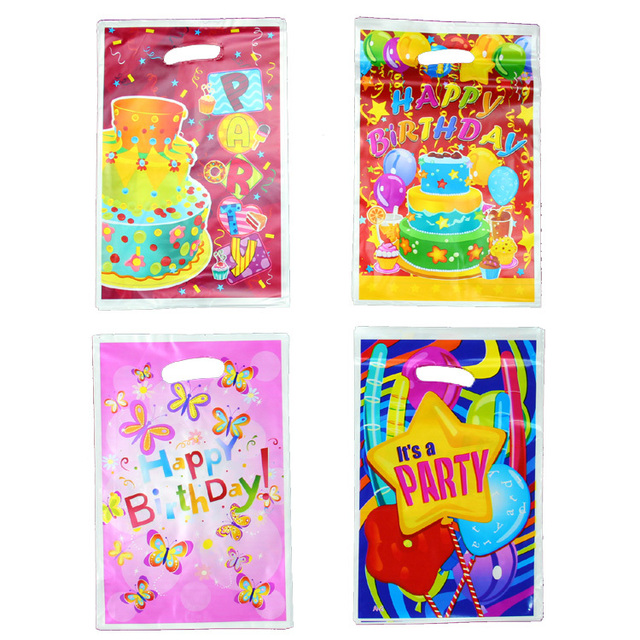 Kids Birthday Party Supplies Backing Gift Bags Return Bag Plastic Favor