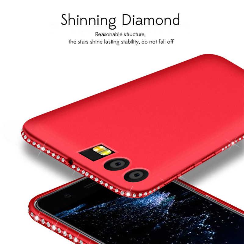TPU caja de diamantes de imitación para Huawei P20 P10 P9 Lite Mate 10 Pro Nova 2 2 s Y9 2018 caso honor 9 10 vista V10 6A 6X 7C PRO