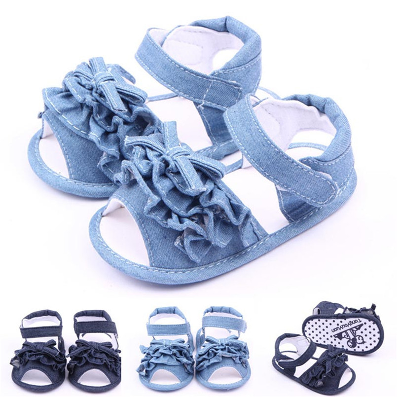 2018 Hot Sale Sandals Baby Anti-slip Sandal Shoes Summer Toddler First Walkers Canvas Sh ...