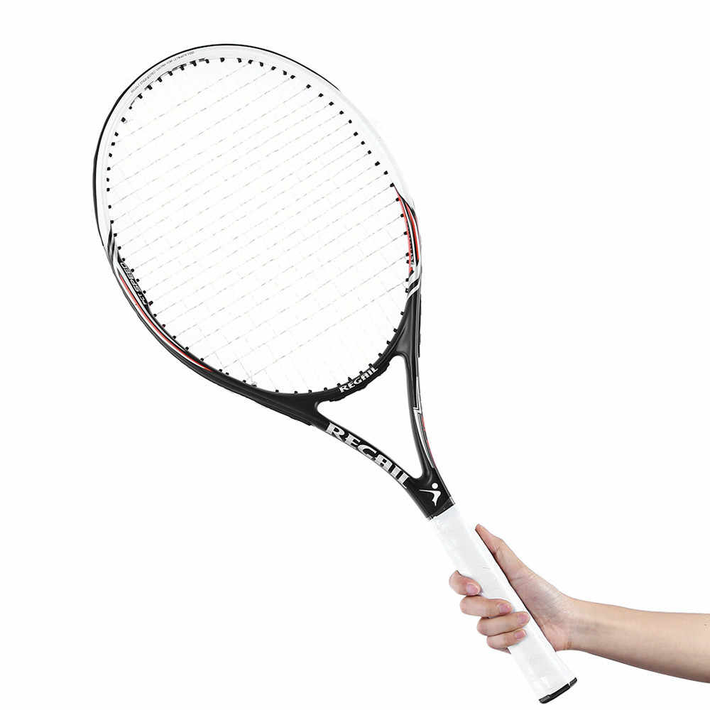 Tennis Rackets Training Competitive Tennis Racket Carbon Aluminum Alloy Tennis Racket Racquets Equipped with Bag