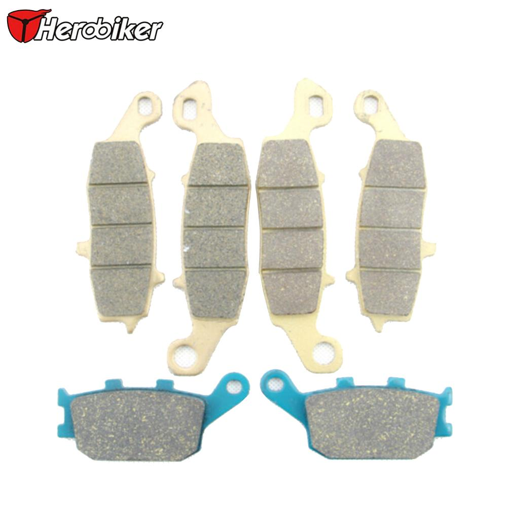 HEROBIKER Sintered Copper Motorcycle Parts Front Rear Brake Pads Fit Suzuki DL1000 DL 1000 V-Storm 2002 2003 2004 2005 2006  -  Top-touch Technology Co.,Ltd store