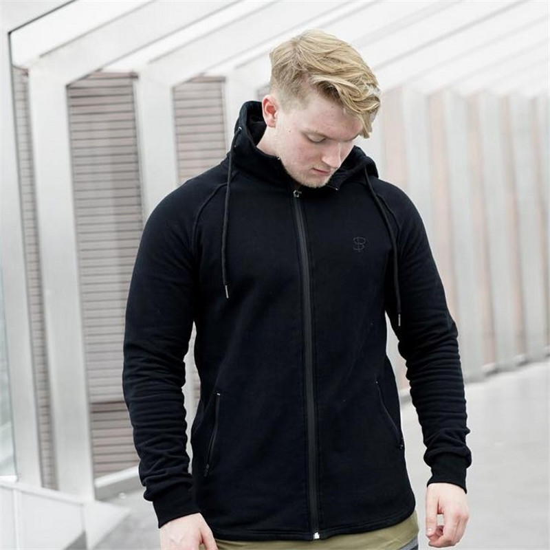 Hooded Running Jackets 2018 Men With Hats Winter Mens Basketball Outdoor Windbreaker Sport Gym Training Clothings 2XL