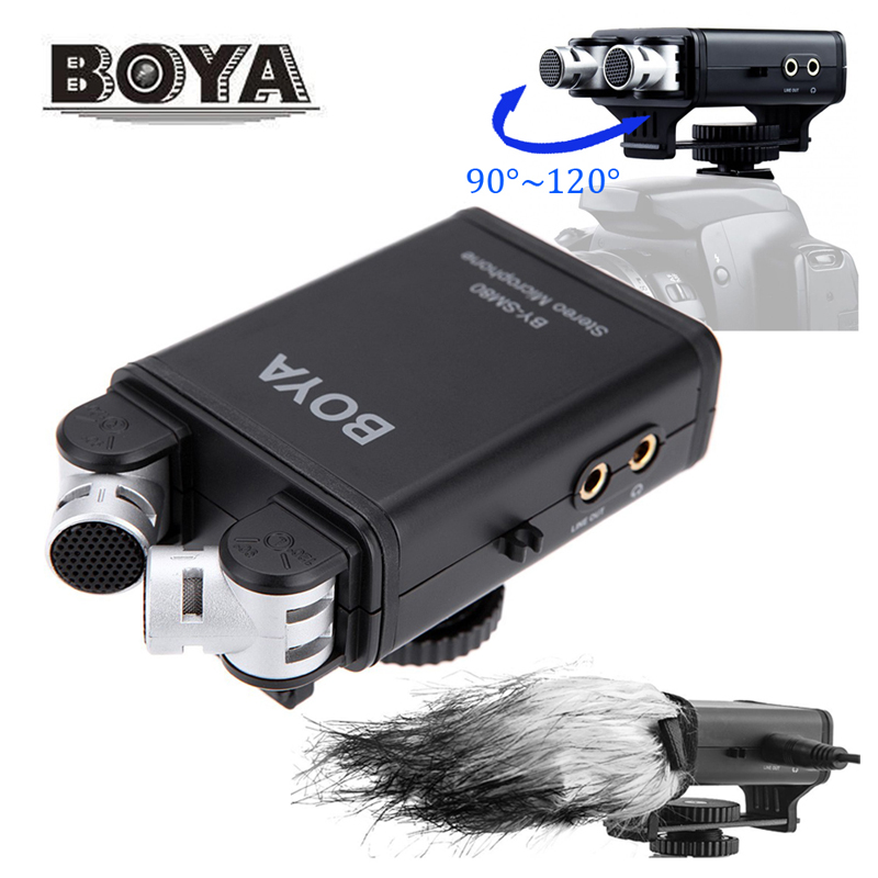 BOYA BY SM80 stereo X Y Microphone for use with DSLR cameras video cameras Compact lightweight