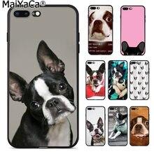 1dc8eaae27f MaiYaCa Animal boston terrier perro patrón TPU suave accesorios teléfono  funda para iPhone 8 7 6 6 S Plus X XS X MAX 5 5S SE XR
