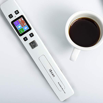 Portable Document Scanner | Mini Document & Images Scanner A4 Size JPG/PDF Formate Wifi 1050DPI High Speed Portable Lcd Display For Business Receipts