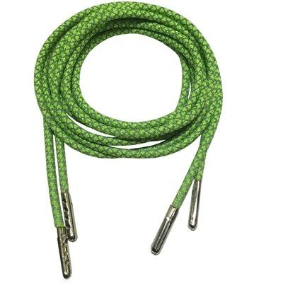 3м Reflective Runner круглые шнурки для ботинок, длина с серебряными наконечниками с металлическим наконечником с фактурой советы - Цвет: Neon Green