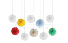 10pcs 4.5(12cm) Pinwheels Tissue Paper Fans Snowflake Hanging Flowers Wedding Party  Decorations