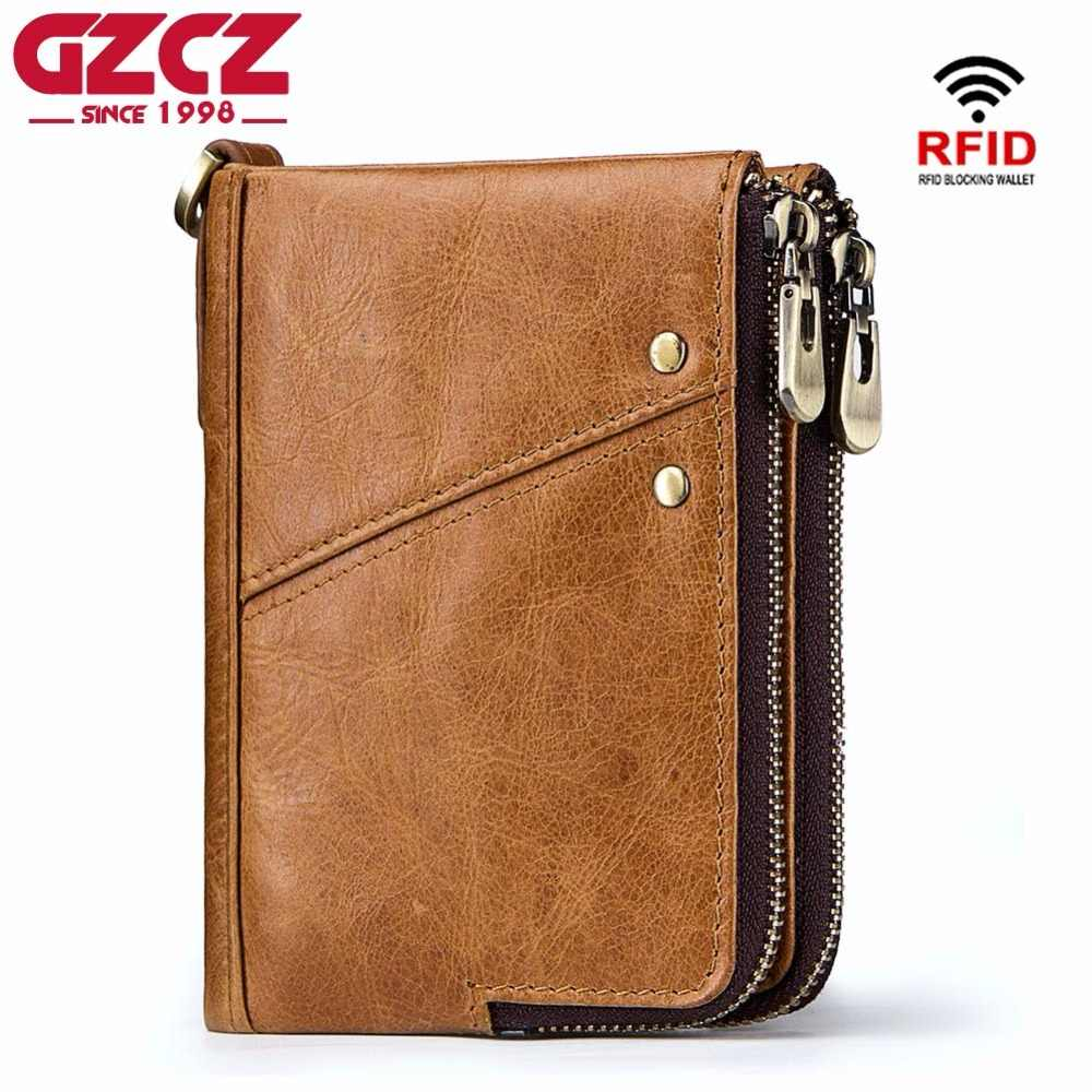 3bd787b45c04 GZCZ HOT Genuine Cowhide Leather Men Wallet Short Coin Purse Small Vintage  Wallets Brand High Quality