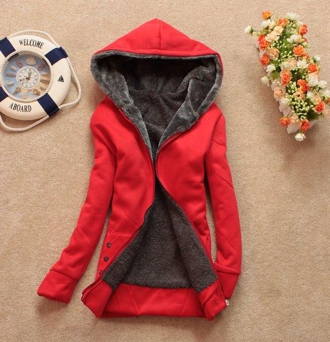 New 4 color warm hoodie Plus Size Fashion Women Hoodies Casual Winter Warm Hooded Sweatshirt Plush Outerwear Girl Jacket Coat in Hoodies amp Sweatshirts from Women 39 s Clothing