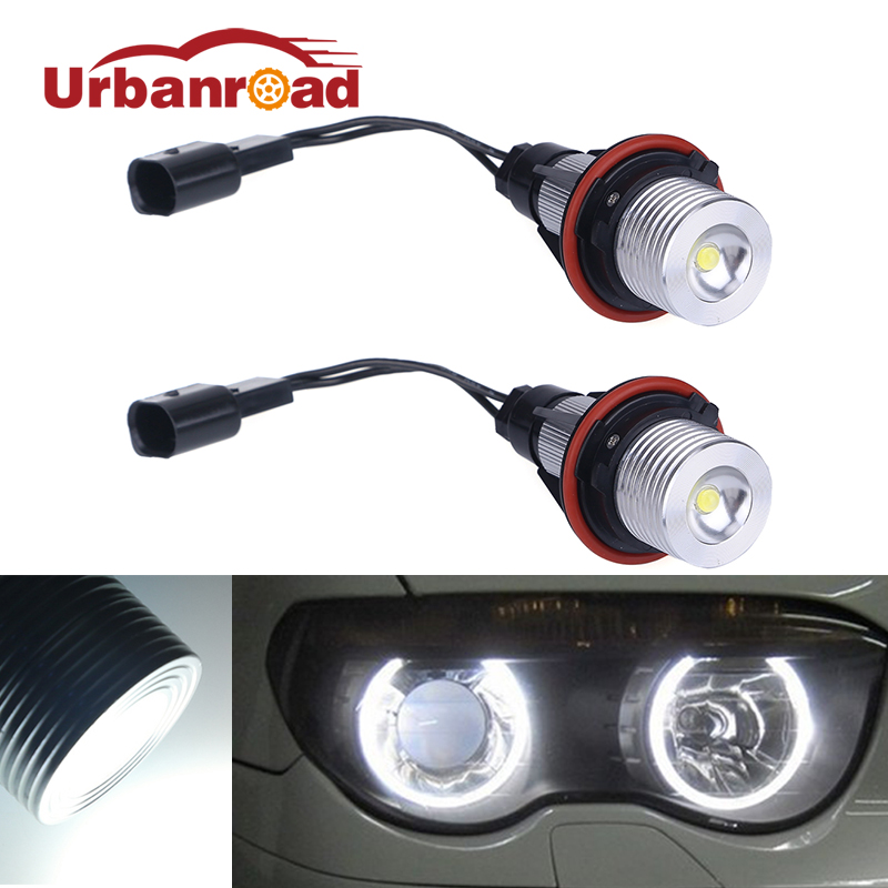 2pcs/Pair White Led Angel Eyes For BMW E39 E60 Angel Eyes Bulb For BMW E39 E53 E60 E61 E63 E64 E65 E66 X5 3W 5W 10W бу подвеску на bmw e60