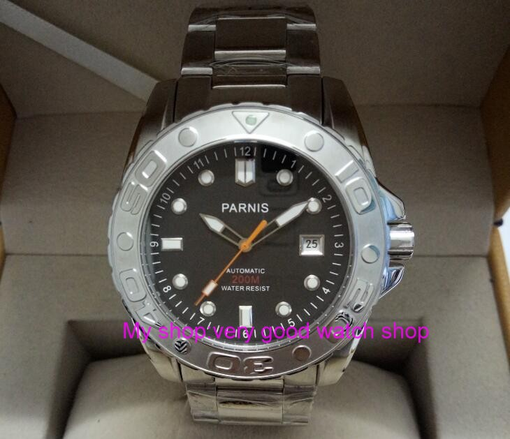 PARNIS 43mm Japanese Automatic Self-Wind movement sapphire glass Mechanical watches dgd043A