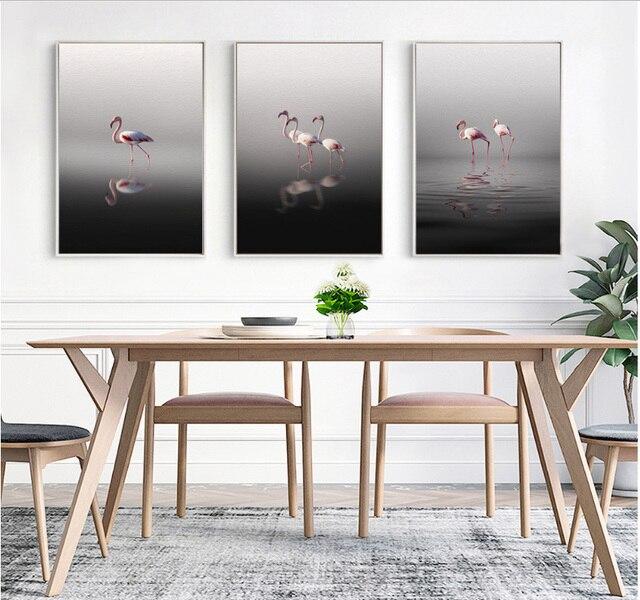 Spray quadri dipinti su tela Flamingo pittura decorativa stile ...