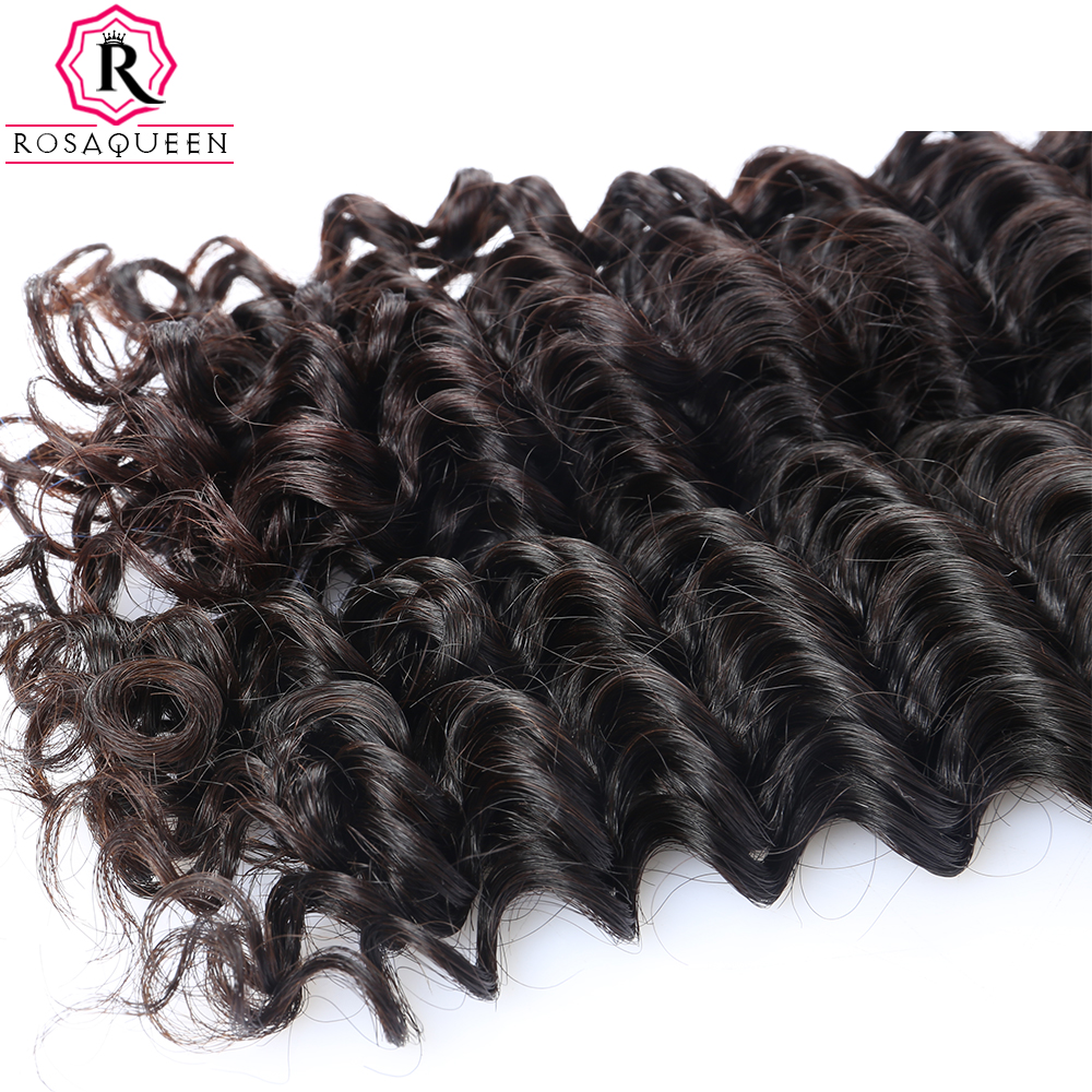 Deep Wave Brazilian Virgin Hair Extensions 100% Մարդկային - Մարդու մազերը (սև) - Լուսանկար 5