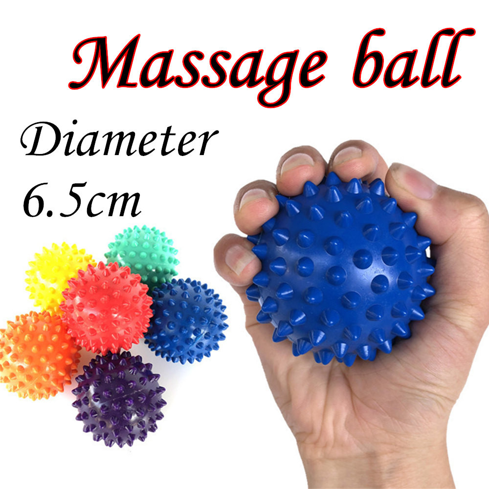 1 Pc 6.5cm Massage Ball Roller Reflexology Stress Relief For Body Yoga Massage Balls PVC easy to use pocket masseur *20