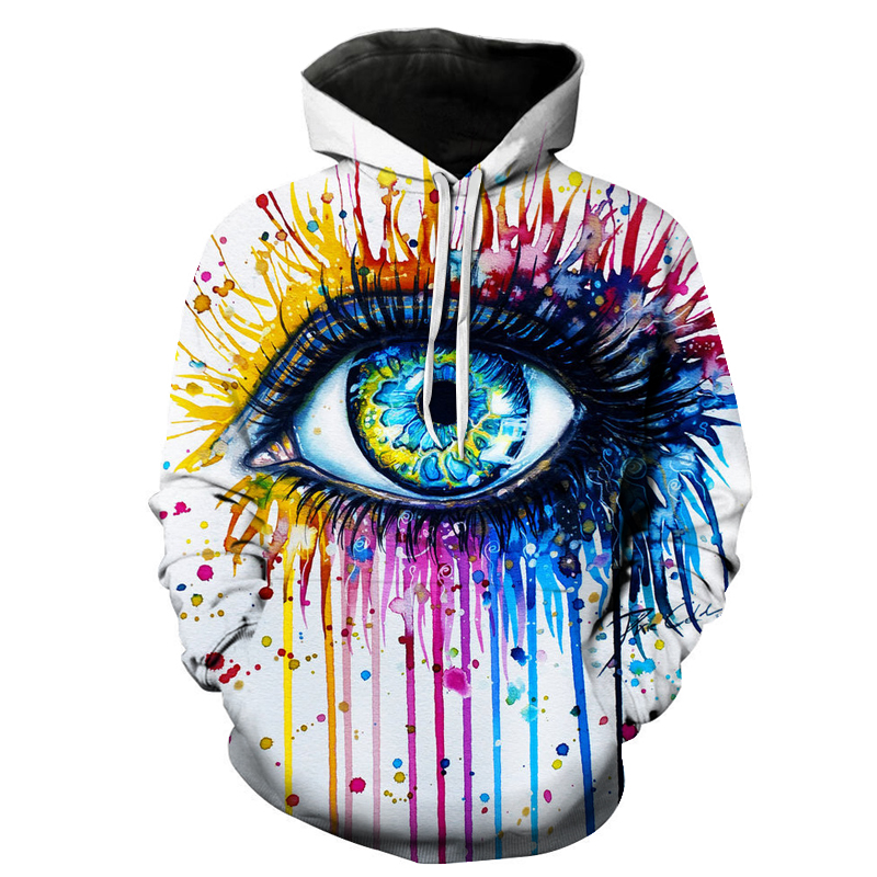 Unisex Splash Paint Eye Hoodies