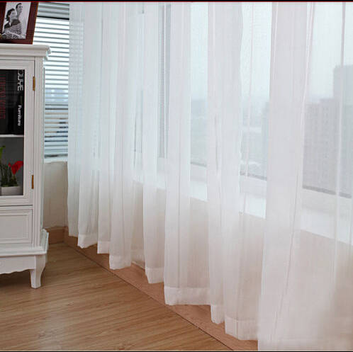 1pc Modern 150cm 270cm Sheer White Voile Scarf Curtain Panel Sets