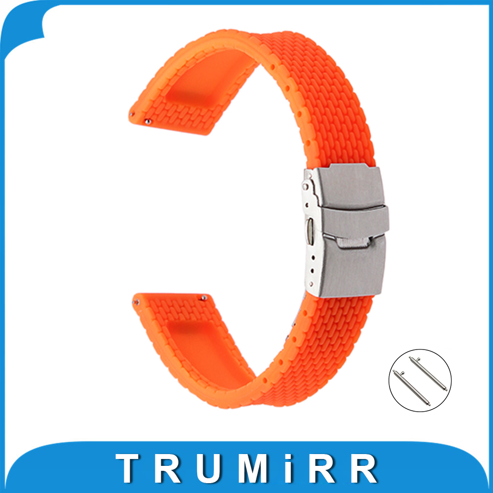 Quick Release Silicone Rubber Watchband 17mm 18mm 19mm 20mm 21mm 22mm 23mm 24mm for Cartier Strap Wrist Belt Bracelet + Tool