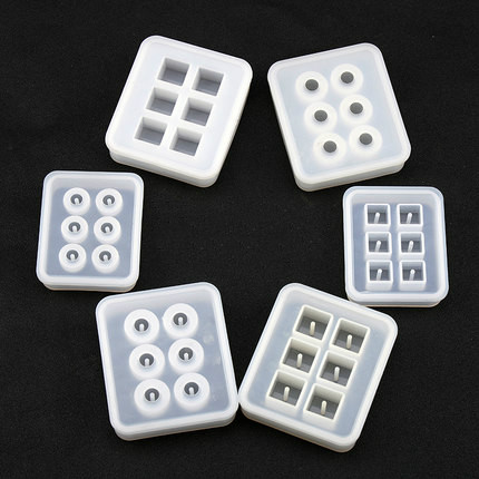 6 Styles Beads Square Ball 6 Hanging Holes DIY Epoxy Jewelry Mold Resin Molds for Jewelry 6 amp 3 9mh epoxy resin embedding common mode choke inductor