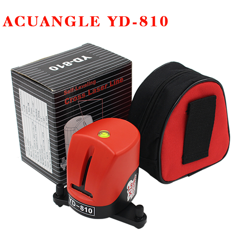 YD-810 360 degree self-leveling Cross Red Laser Level Wave length 635nm 1V1H Red 2 line 1 point Mini portable Instrument bracket