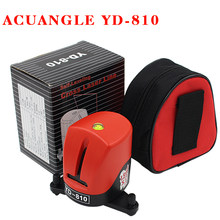 YD-810 360 degree self-leveling Cross Red Laser Level Wave length 635nm 1V1H Red 2 line 1 point Mini portable Instrument bracket(China)