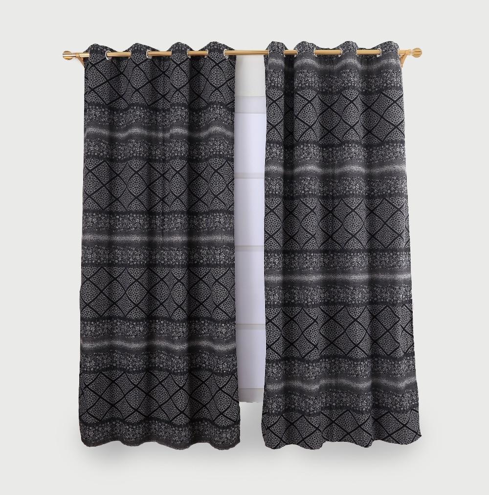 Yaşayış otağı üçün müasir qaranlıq pərdələr Pəncərə - Ev tekstil
