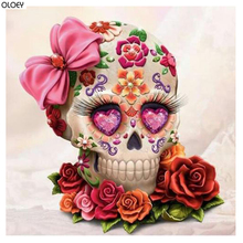 5D DIY Diamond painting Cartoon skull Full Square/Round embroidery Rose Cross stitch Wall Painting