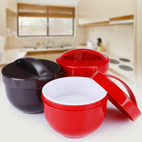 Instant Noodles Bowl Three Layers Microwave Bring Handle Lunch Box Soup Bowl Container Storage For Children