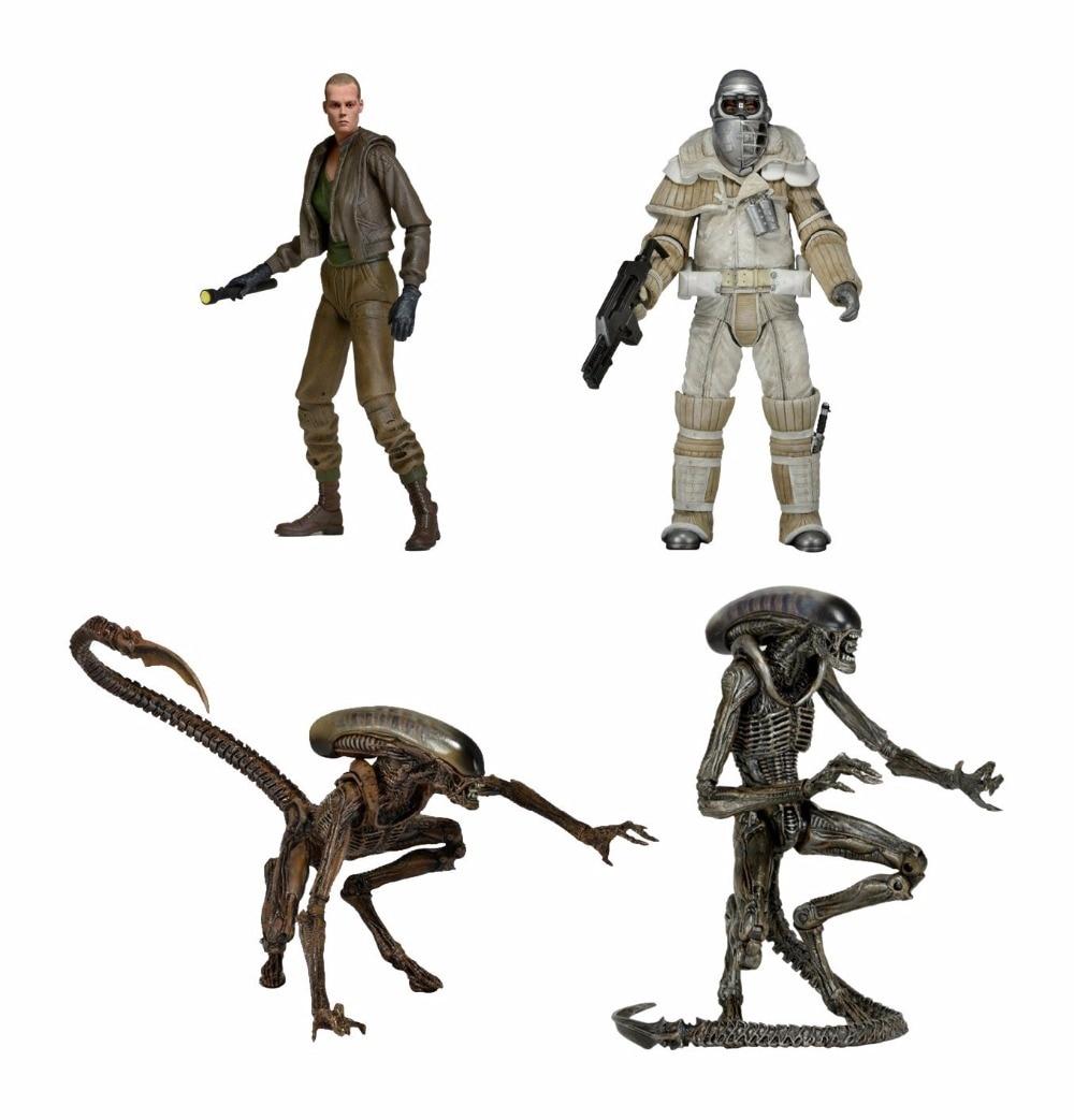 Classic Sci-fi Horror Movie <font><b>Aliens</b></font> <font><b>Series</b></font> <font><b>8</b></font> Weyland Yutani Commando <font><b>Dog</b></font> <font><b>Alien</b></font> Ellen Ripley 18CM NECA <font><b>Action</b></font> <font><b>Figure</b></font>
